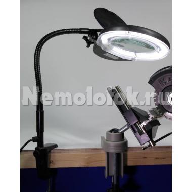 Лампа-лупа светодиодная 3-х кратного увеличения 230V (17405)