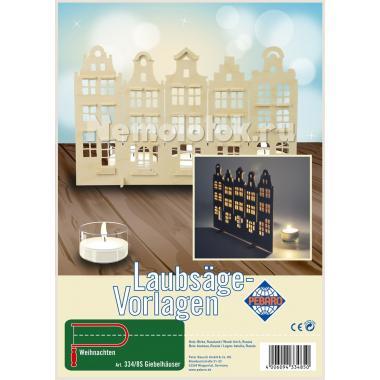 Заготовка из фанеры Городские дома для выпиливания лобзиком (334/8S)