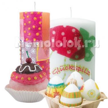 Набор для декорирования свечей Pebaro (0277)