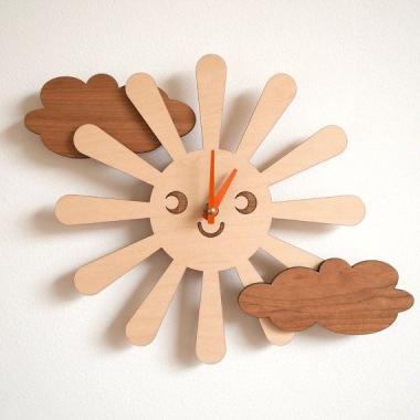 Шаблон Часы - солнце