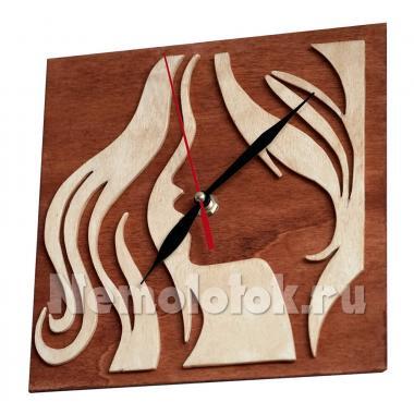 Шаблон Часы-Картина 2 в 1_Блондинка- Брюнетка