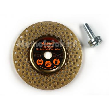 Диск алмазный для заточки инструмента для дрели D110 мм (fein/grob) (зерно D46/D151) (15893)