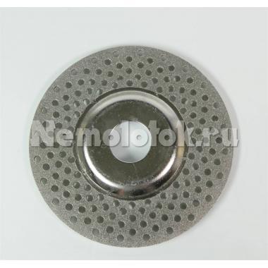 Диск алмазный для заточки инструмента на УШМ D110 мм (крупный) (grob) (зерно D151) (10453/17829)