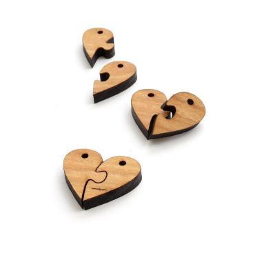 Шаблон Брелок-сердце