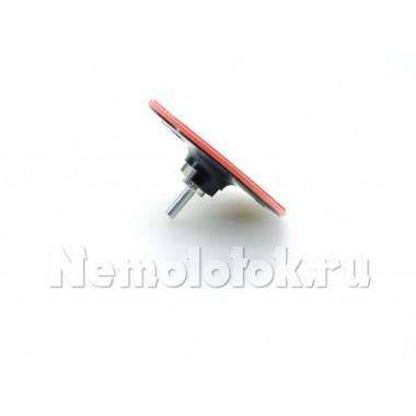Тарелка шлифовальная резиновая D 125 мм для УШМ с адаптером для дрели (10322)