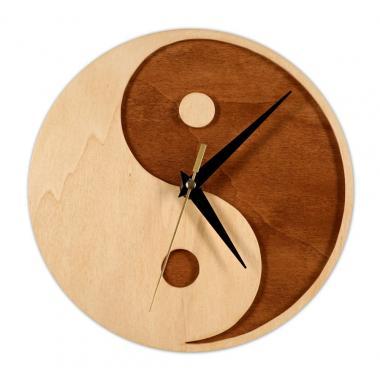 Шаблон Часы «Инь-Янь»