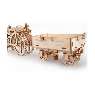 3D-пазл механический UGears - Прицеп к трактору