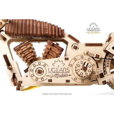 3D-пазл механический из дерева UGears - Байк VM-02