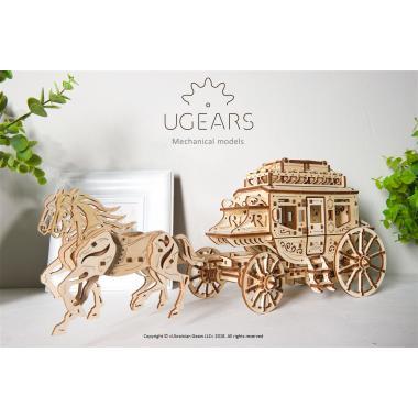 3D-пазл механический Ugears - Почтовый дилижанс