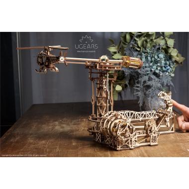 3D-пазл механический из дерева UGears - Авиатор