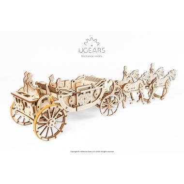 3D-пазл механический из дерева UGears - Королевская карета