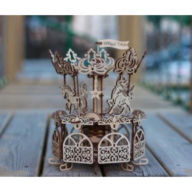Механический 3D-пазл из дерева Wood Trick Карусель