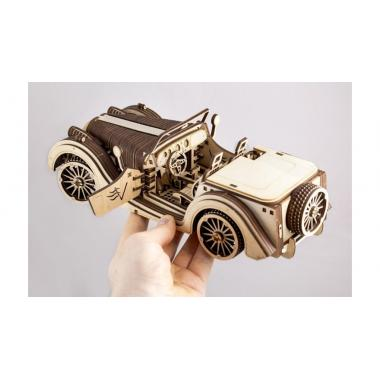 Деревянный механический 3D конструктор V-Models Roadster VM-01