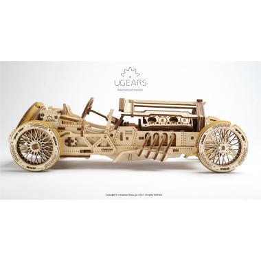 3D-пазл механический Ugears - Спорткар U-9 Гран-при