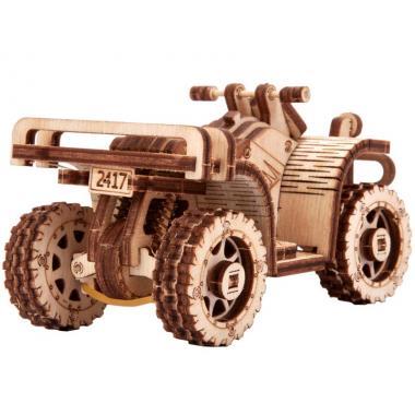 Механический 3D-пазл из дерева Wood Trick Квадроцикл ATV