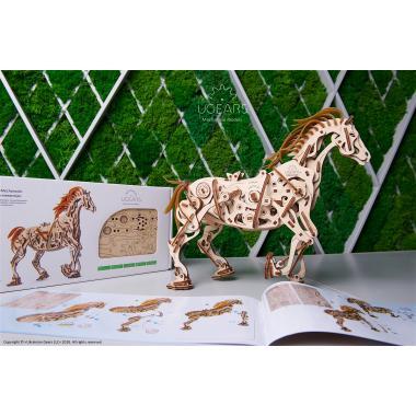 3D-пазл механический из дерева UGears - Конь-Механоид