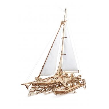 3D-пазл механический из дерева UGears - Тримаран Мерихобус