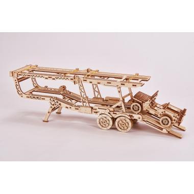 Механический 3D-пазл из дерева Wood Trick Прицеп Автовоз