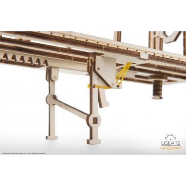 3D-пазл механический из дерева UGears - Полуприцеп к модели Тягач VM-03