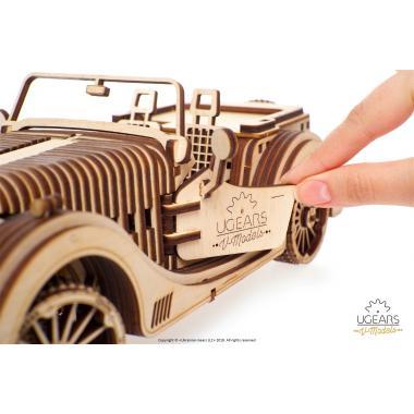 3D-пазл механический из дерева UGears - Родстер VM-01