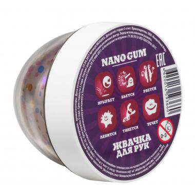 Жвачка для рук NanoGum, Жидкое стекло с конфети с ароматом Барбариса