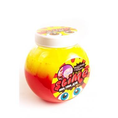 """Тянущийся слайм Slime """"Mega Mix"""", желтый + клубиничный, 500 гр"""