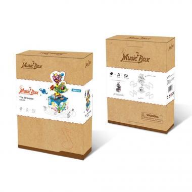 """Деревянный 3D конструктор - музыкальная шкатулка Robotime """"Вселенная"""""""