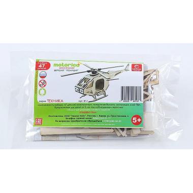 Конструктор 3D деревянный подвижный Lemmo Вертолет Полиция
