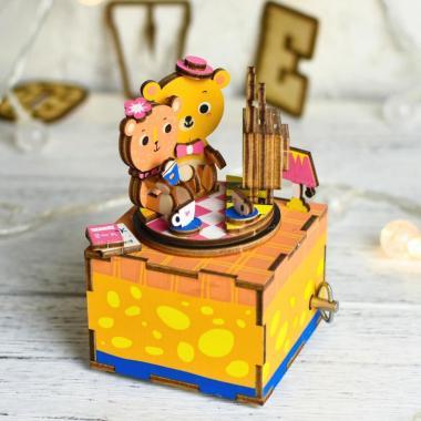 """Деревянный 3D конструктор - музыкальная шкатулка Robotime """"История любви"""""""