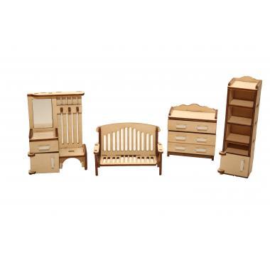 """Мебель для кукольного домика ХэппиДом """"Прихожая"""" из дерева"""
