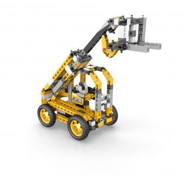 Конструктор Engino JCB Набор из 3 моделей. Подъемный кран с мотором