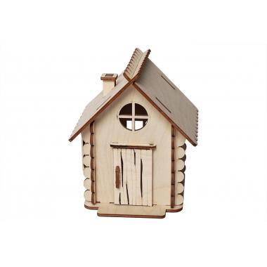 Конструктор 3D деревянный Lemmo Домик Малый