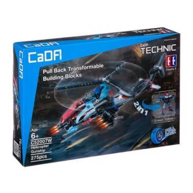 Конструктор Cada Technics самолет и робот-трансформер 2в1 с инерционным механизмом, 275 дет