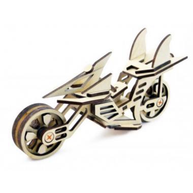 Конструктор 3D деревянный подвижный Lemmo Мотоцикл Фантом