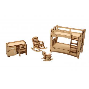 """Мебель для кукольного домика ХэппиДом """"Детская"""" из дерева"""