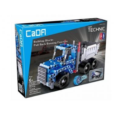 Конструктор Cada Technics грузовик c инерционным механизмом, 301 дет