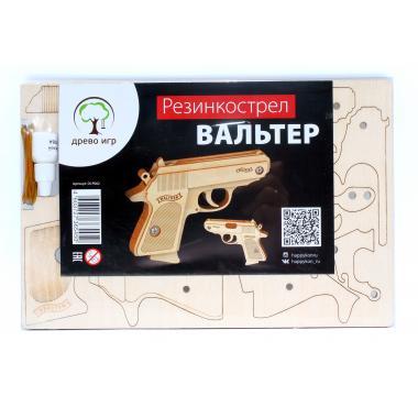 Конструктор-пистолет Древо Игр Резинкострел Вальтер