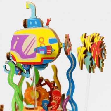 """Деревянный 3D конструктор - музыкальная шкатулка Robotime """"Под водой"""""""