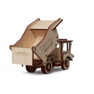 Конструктор 3D деревянный подвижный Lemmo Самосвал Сэм