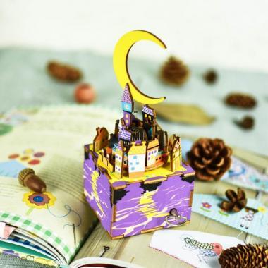 """Деревянный 3D конструктор - музыкальная шкатулка Robotime """"Сон в летнюю ночь"""""""