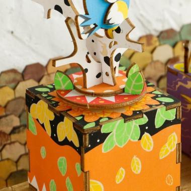 """Деревянный 3D конструктор - музыкальная шкатулка Robotime """"Птички"""""""