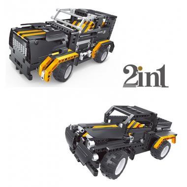 Конструктор QIHUI с мотором и радиоуправлением Black Hums