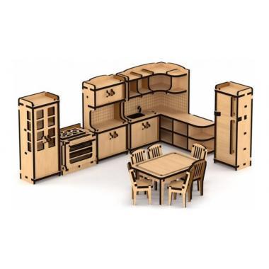 """Набор кукольной мебели """"Кухня"""" для домика """"Венеция"""""""