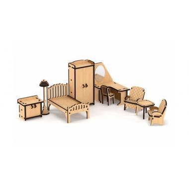 """Набор кукольной мебели """"Спальня"""" для домика """"Венеция"""""""