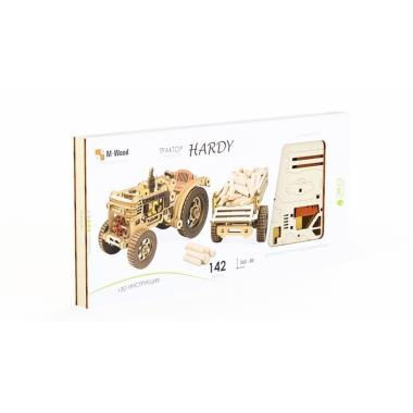 Конструктор 3D деревянный M-WOOD Трактор с прицепом HARDY