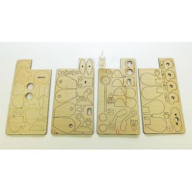 Конструктор 3D деревянный подвижный Lemmo Робот САН