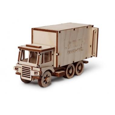 """Конструктор 3D деревянный подвижный Lemmo Фургон """"ЧИП"""""""