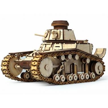 Конструктор 3D деревянный подвижный Lemmo Танк МС-1
