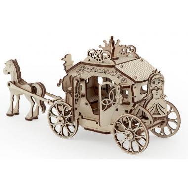 Конструктор 3D деревянный подвижный Lemmo Карета