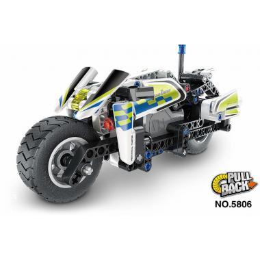 Конструктор QiHui Technics Полицейский мотоцикл инерция, 193 детали - QH5806
